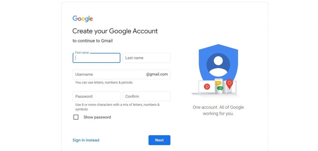 Creating Gmail - How to Create a Gmail Account