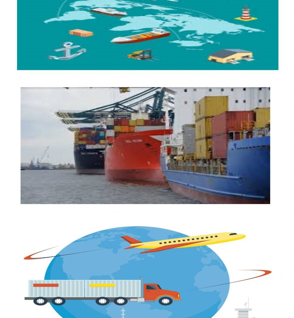 Shipping worldwide, territorial shipping and marine shipping, FedEx and DHL
