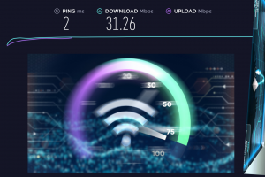 Network speed test applications